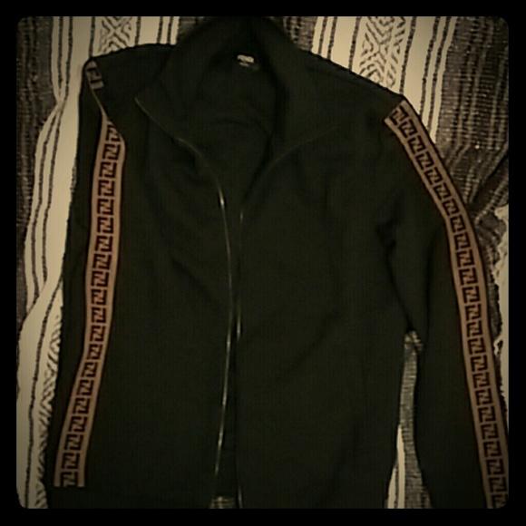 7a802cc351 Mens Fendi zip-up sweater NWT